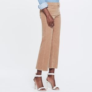 MOTHER NWT The Outsider Crop Corduroy Tan Jeans
